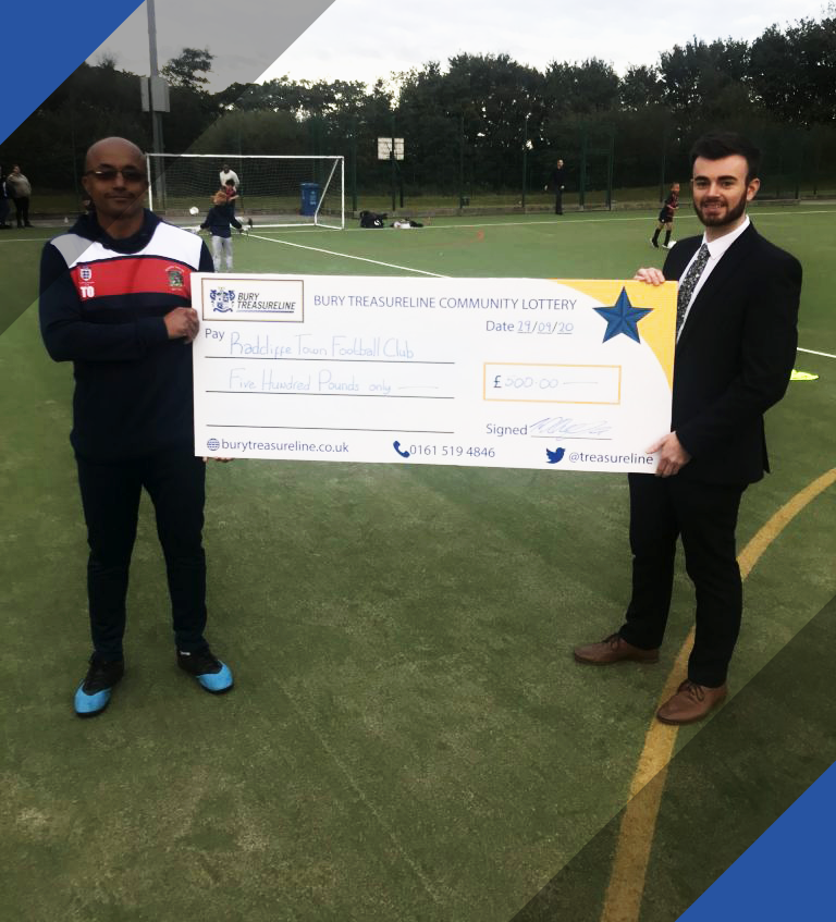 BTCL Supports Radcliffe Town FC With Donation!